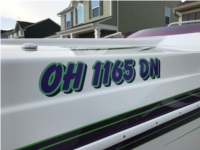 2002 HTM SS 24 boat  Lettering from Brent S, OH