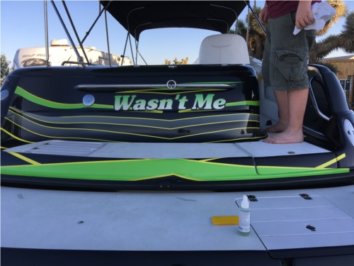 24' Crownline deck boat Lettering from Jeffrey  K, CA