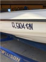 2001 Allison SS Boat Lettering from Derek F, FL