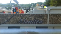 2007 Manitou  Oasis Pontoon Boat Lettering from Jim S, NY