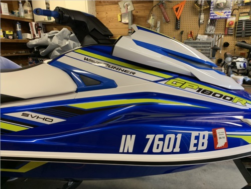 Yamaha GP1800 Waverunner  Lettering from Jonathan D, IN