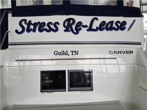 1997 Carver 405 Boat Lettering from Danna S, TN