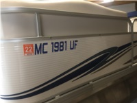 2008 Manitou 22' Pontoon Boat Lettering from Brian H, MI