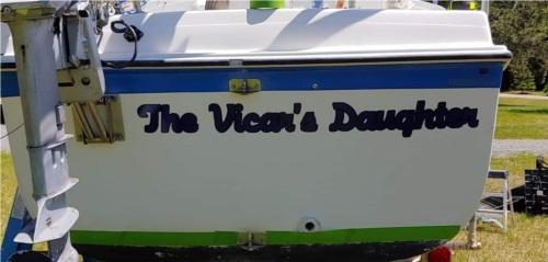 Macgregor 25 sailboat Renamed my boat Lettering from Jasen B, VT