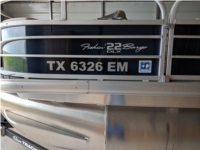 2019 Suntracker Fishin Barge 22 Boat Lettering from Kerry W, TX