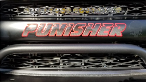 2016 Toyota 4runner  Front grill  Lettering from jeffrey b, PA