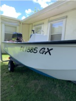 Boston whaler 13 Boat Lettering from Sean  H, FL