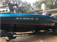 2012 triton 19xs Boat numbers Lettering from Gilbert K, WI