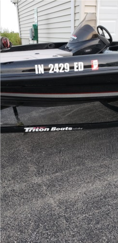 2009 Triton Bass boat Lettering from Lee S, IN