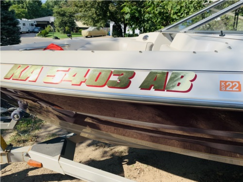 Maxum 1750NB Boat Lettering from Dane R, KS