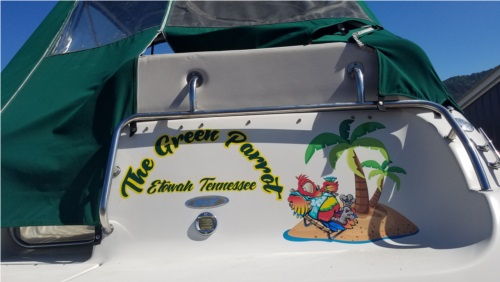 1999 Crownline 27' Cabin Cruiser Lettering from Michael I, TN