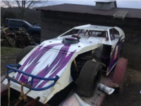 Open wheel modified dirt car  Lettering from William S, KY