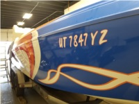2001 Sleekcraft Heritage 30 ft. Boat Lettering from David B, UT