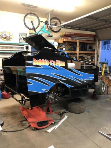 Xcell dirt car Lettering from Glenn K, NY