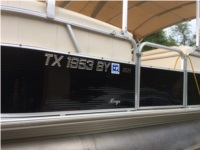 2010 Sylvan Mirage 8520 Pontoon Boat Lettering from Rene L, TX