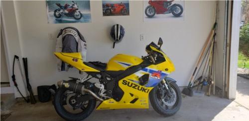 2005 Suzuki GSXR  Motorcycle  Lettering from Bryan M, MN