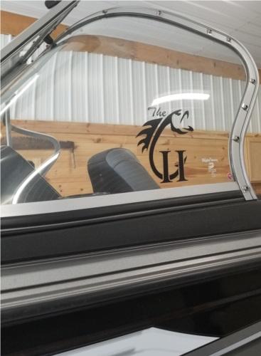 Crestliner superhawk Boat windshield  Lettering from Karen C, MI