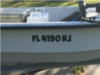 Carolina Skiff Boat Lettering from Brad M, FL