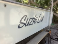 1985 23' Seacraft Super Fish I restored.  Our boat Lettering from Phil  F, FL