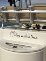 2019 Key West Center Console Boat Lettering from Mark H, FL