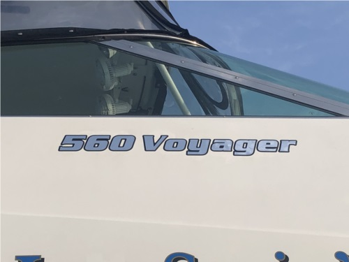 2005 Carver 560 Voyager Carver 560 Voyager yacht Lettering from Michael J, NC
