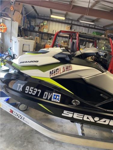 2017 Seadoo Gti Se 130 Jet Ski Lettering from Dalton K, TX