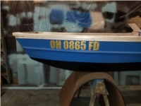 1971 Sears Epoxy painted aluminum jonboat Lettering from ERIC D, OH