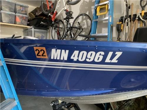 2020 Alumacraft Boat Lettering from Chris R, MN