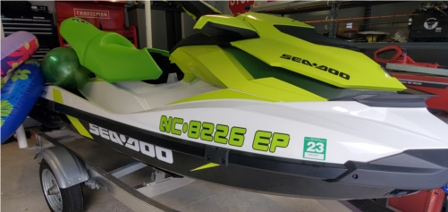 2020 sea-doo gti130  Jet ski  Lettering from Ricky T, NC