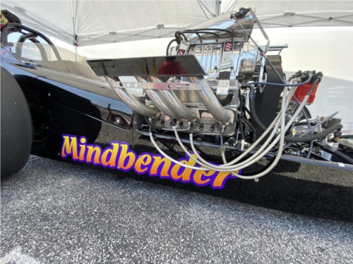 Nostalgia front engine dragster  Lettering from Chris S, TN