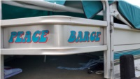 1994 party barge boat Lettering from Lisa R, IN