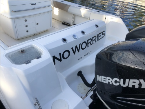 32 Boston Whaler  Boat Lettering from Tony P, FL