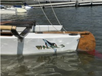 1960 Malibu outrigger  Sail boat  Lettering from John H, CA