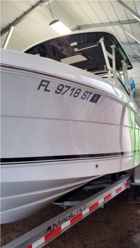2018 Robalo R246 Boat Lettering from John H, FL