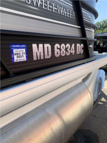 2020 godfrey sweetwater 2286 model metal skirting on tritoon boat Lettering from Matthew W, MD