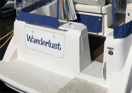 2003 Bayliner Boat Lettering from Tracy M, OH