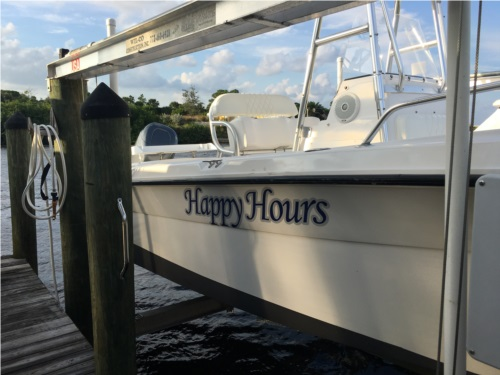 2003 Angler 203B 22' Center Console Lettering from Al H, FL