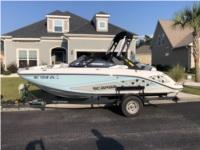 2018 Scarab 195 ID HO Boat Lettering from Steven K, SC