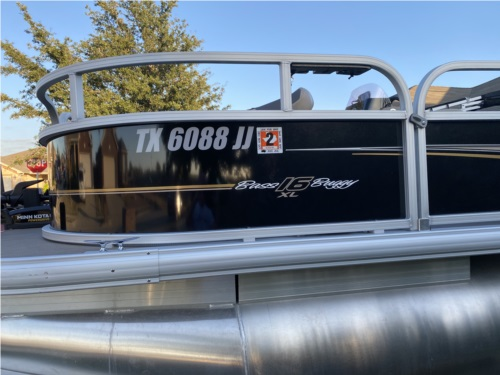 2020 Suntracker Bass Buggy 16xls Pontoon boat Lettering from Robrt P, TX