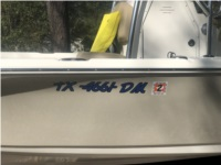 2016 Key West Bay Reef  Boat Lettering from Duane M, TX