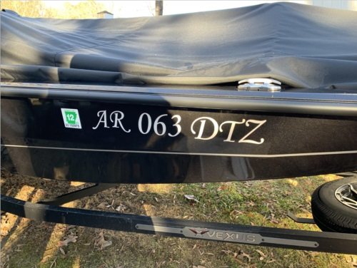 2021 Vexus 189 Boat Lettering from Forrest M, AR