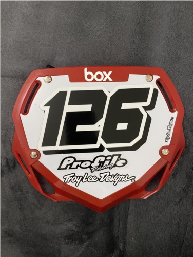 BMX number plate  Lettering from Josh S, WA