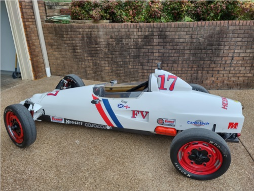 Caracal C-1 Formula Vee race car Lettering from Anthony B, TN