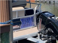 2021 Tracker Party Barge Pontoon Boat Lettering from Leonard C, FL