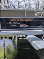 2021 Party Barge 18 Sun Tracker Pontoon  Lettering from Lillian B, NC
