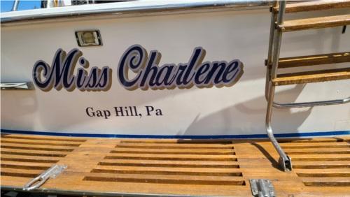 Trojan F32 Boat Lettering from Charlene B, PA