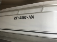 2004 Aqua Patio 240RS Pontoon Lettering from Jimmy W, KY