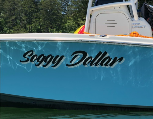 2020 NauticStar 2102 Legacy Center Console Boat Name Lettering Lettering from Patrick C, NC