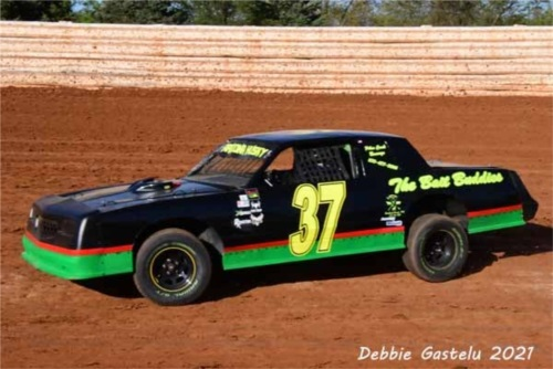 Roadrunner class dirt race car Lettering from Stanley B, PA
