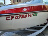 MB B52-23 Alpha Surf Boat Lettering from Christopher J, CA